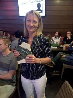 Christi Niehans with Award