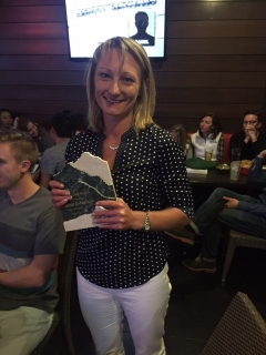 Christi Niehans with Award